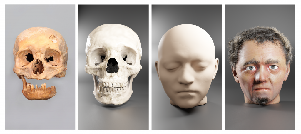 Face Reconstruction process: a view of individual step